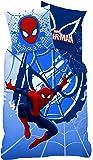 CTI 042771 Spiderman Webhead Parure Housse de Couette 140 x 200 cm + Taie d'Oreiller 63 x 63 cm Coton Multicolore 140 x 200 cm