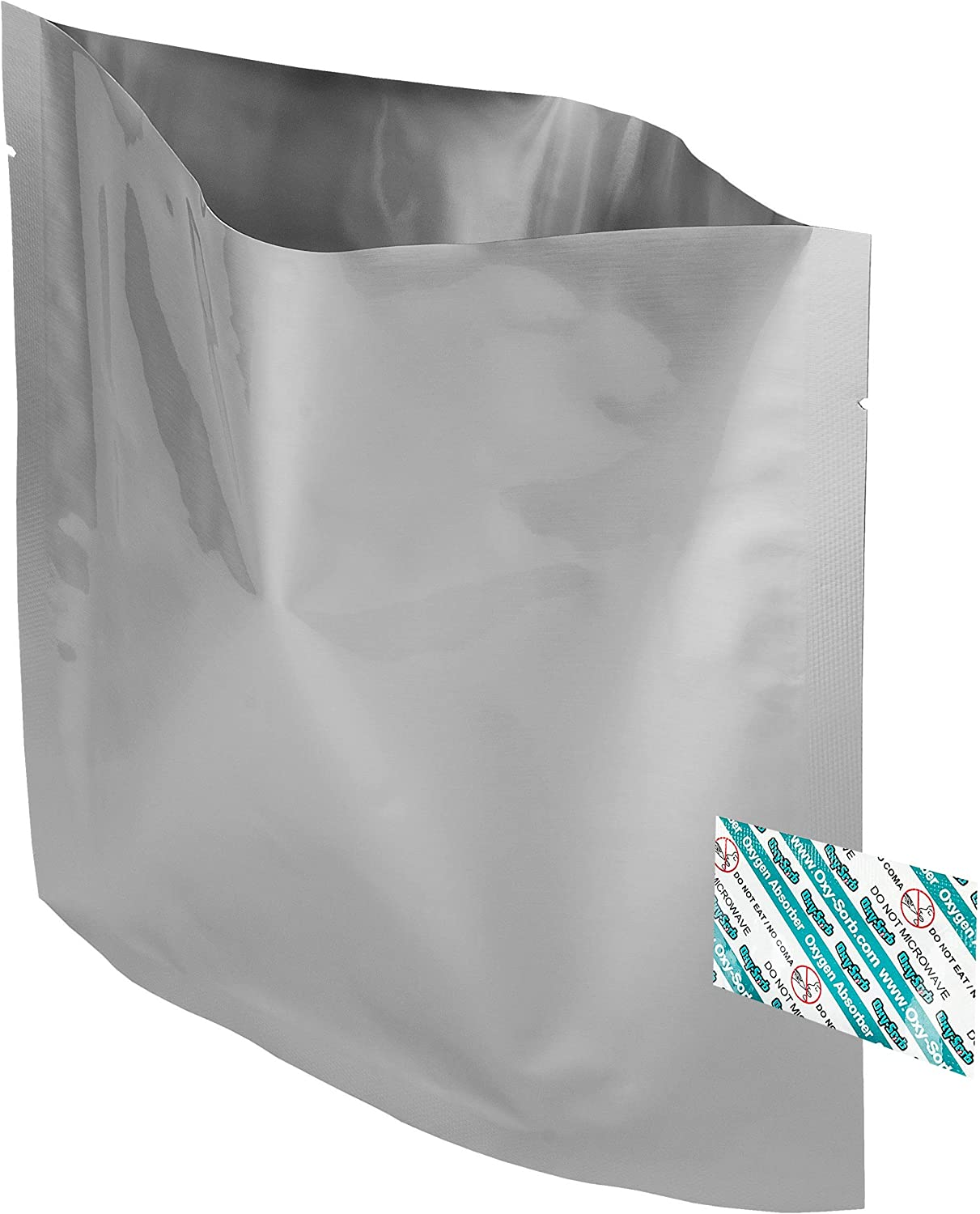 100 - 1 Quart Mylar Bags & Oxygen Absorbers for Dried Food & Long Term Storage by Dry-Packs!