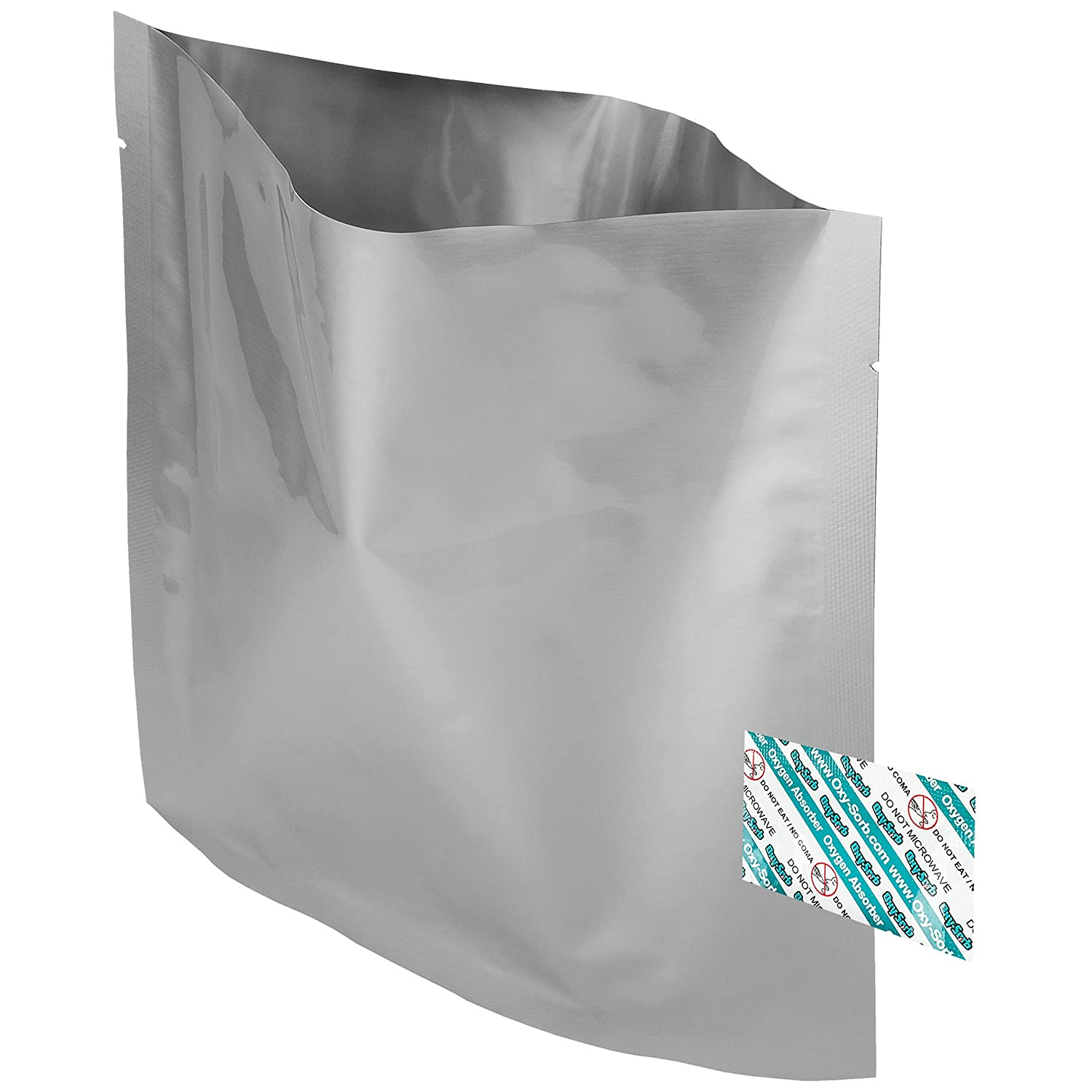 80 - 1 Quart Mylar Bags & Oxygen Absorbers for Dried Food & Long Term Storage by Dry-Packs!