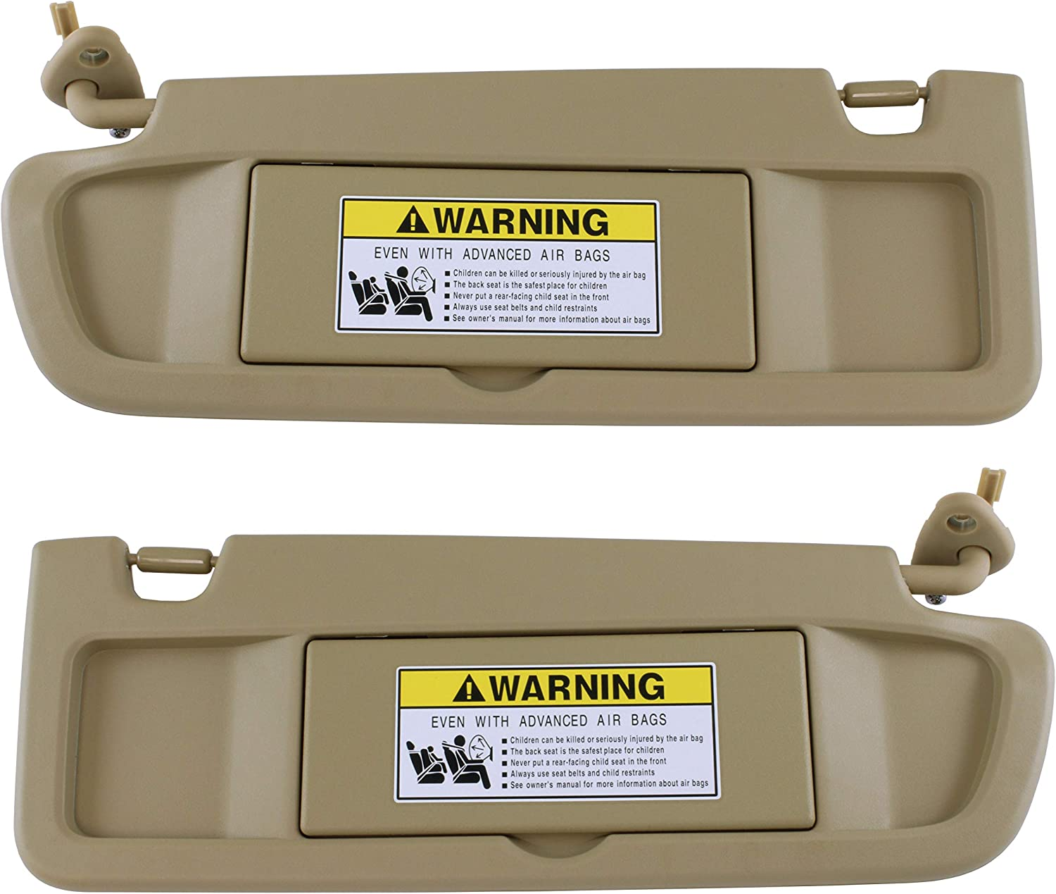 83280-SNA-A01ZB UNIGT Driver Left Pearl Ivory Sun Visor Assembly Replace for 2006 2007 2008 2009 2010 Civic Sunvisor