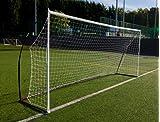 クイックプレイ ポータブル サッカーゴール ELITE 少年サッカー8人制サイズ 4.9m×2.1m 組み立て式 KE5M