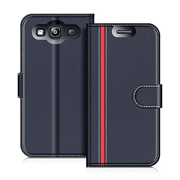 COODIO Funda Samsung Galaxy S3 con Tapa, Funda Movil Samsung S3, Funda Libro Galaxy S3 Carcasa Magnético Funda para Samsung Galaxy S3 / S3 Neo, Azul ...