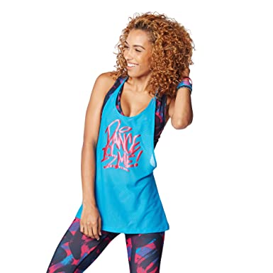 Zumba Dance Is Mesh Tank Back to Blue X-Large