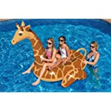 8' Water Sports Inflatable Giant Giraffe Swimming Pool Ride-On Lounger