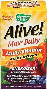 Nature's Way Alive! Max 6 Daily Multi-Vitamin 90 Veg Capsules