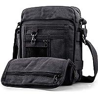 SPAHER Men Canvas Hiking Backpack Large Unisex Laptop Business School Satchel Holdall Weekend Travel Overnight Outdoor Shoulder Casual Bag
