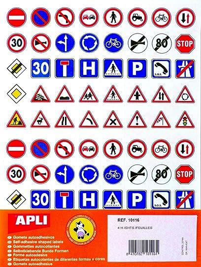 Exceptionnel Gommettes - 40 Panneaux de signalisation x 320 - APLI AGIPA  DB64