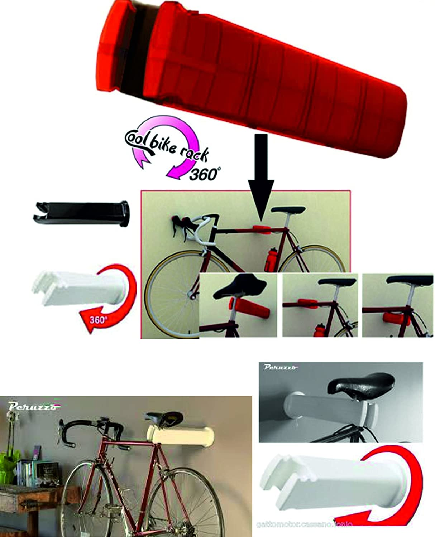 Figo by Peruzzo 1-Bike 360 Degree Adjustable Wall Mount Storage Display Rack, Victory Red