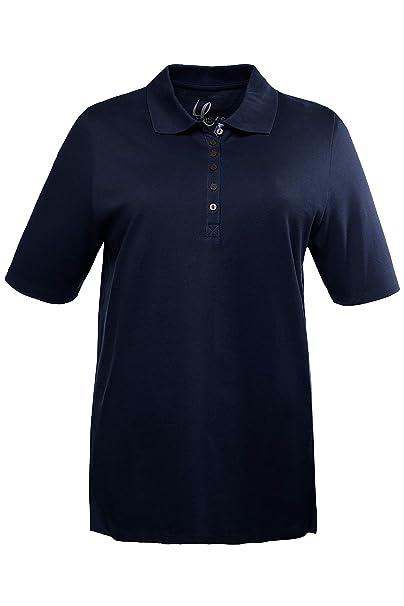 1a34e1abce46a Ulla Popken Women s Plus Size Polo Shirt 638837 at Amazon Women s Clothing  store