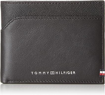 Tommy Hilfiger - Bi-Material Mini CC Wallet, Tarjeteros Hombre, Negro (Black), 2x8.6999999999999993x11 cm (B x H T): Amazon.es: Zapatos y complementos