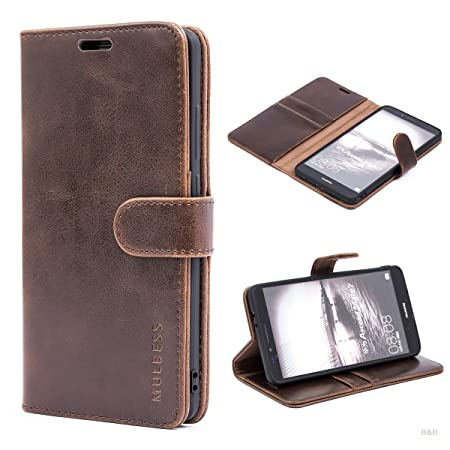 Mulbess (Vintage bookstyle) Premium Handy Schutzhülle Ledertasche im Kartenfach für Huawei Mate 7 (6 Zoll) Tasche Hülle Leder