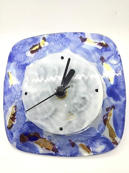 Futura Diffution Orologio da Tavolo in Vetro di Murano