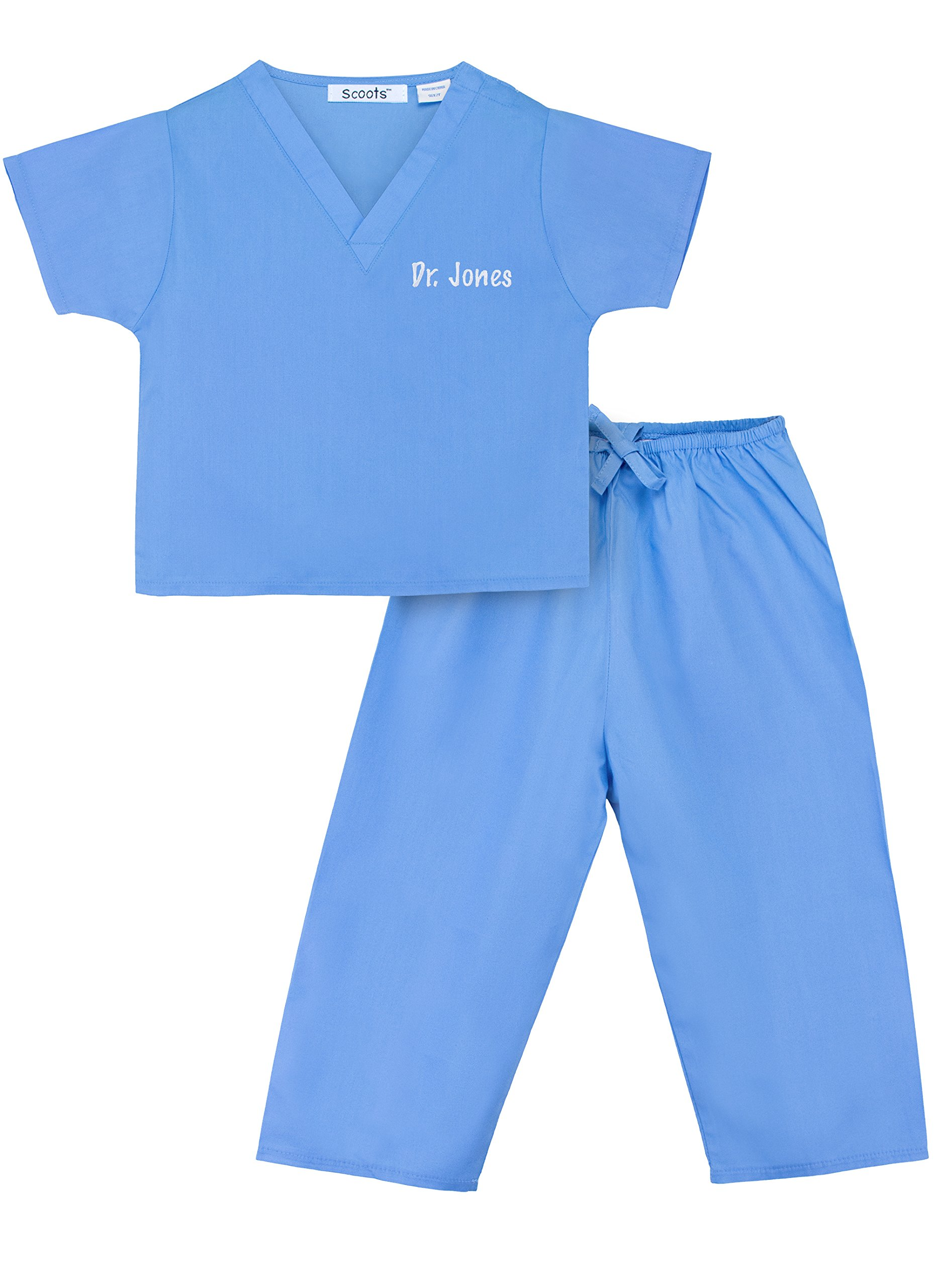 Personalized Scrubs for Children, Size 3T, Blue