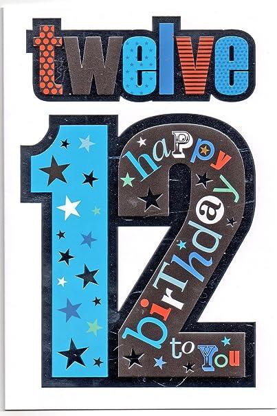 Goede Verjaardagskaart voor Twaalf (12) Jaar Oude Jongen - Gratis 1e AC-49