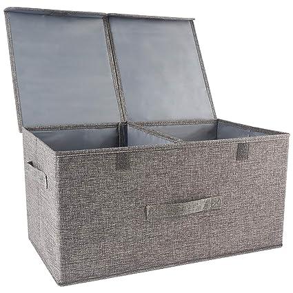 Organizador de ropa cajas de almacenamiento con separadores extraíbles,caja de almacenamiento de ropa con espacio de gran tamaño