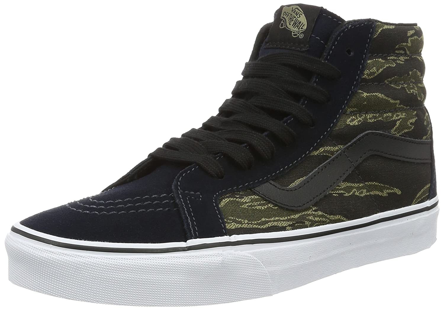 VANS MENS SK8 HI REISSUE LEATHER SHOES B01DYR36G0 12.5 B(M) US Women / 11 D(M) US Men|Dark Navy/Black