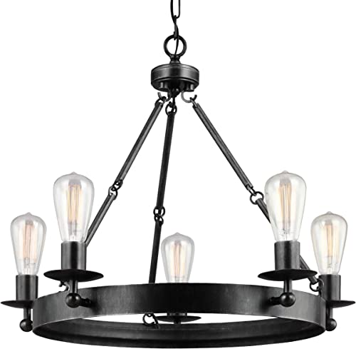 Sea Gull Lighting 3110205-846 Ravenwood Manor Five-Light Chandelier Hanging Modern Fixture Stardust Finish