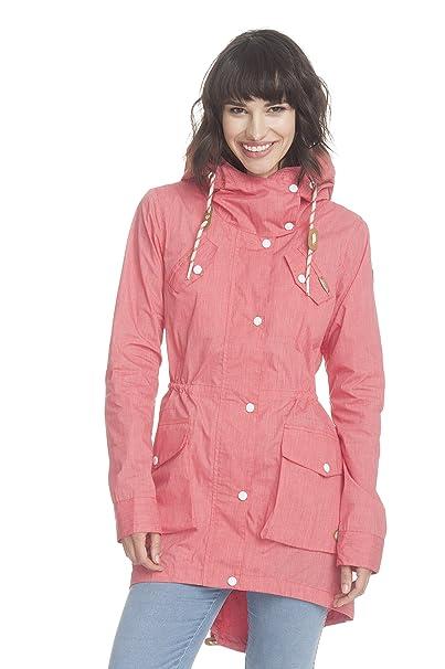 Ragwear - Abrigo - Abrigo de verano - para mujer coral melange M: Amazon.es: Ropa y accesorios