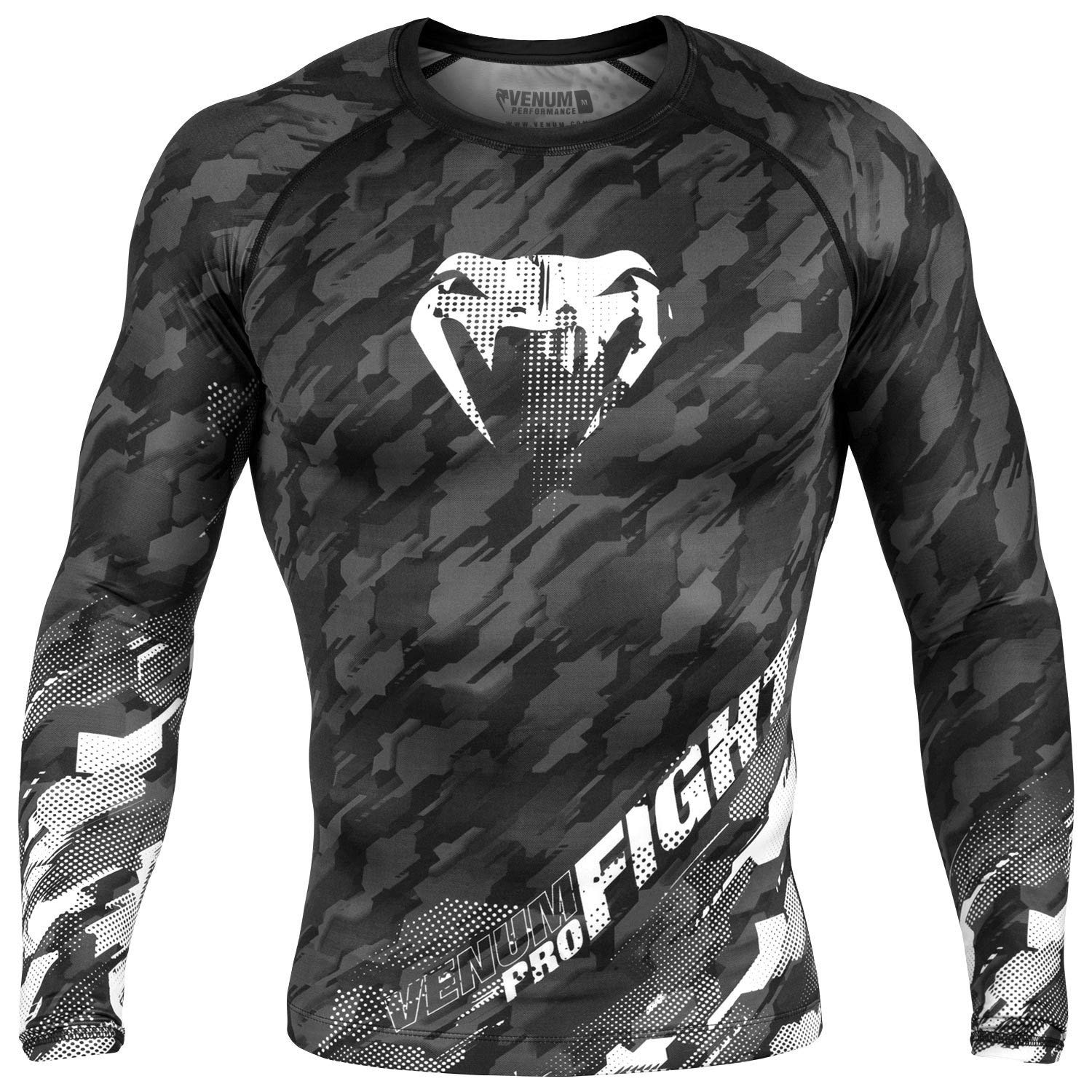 Venum MMA Grey Tecmo Long Sleeve Rash Guard (Small) by Venum