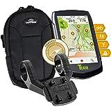 TEASI ONE 3 eXtend - Fahrrad- & Wandernavigation + Dual-Fahrradhalter Lenkermontage + USB Netzteil + Tasche