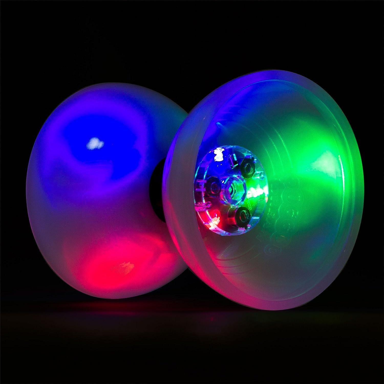 Select Stick Colour Batteries Included Juggle Dream LED Big Top Bearing Diabolo Set with Coloured Aluminium Diablo Sticks /& Firetoys Cotton Bag
