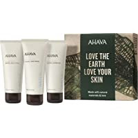 AHAVA Dead Sea Mineral Hand Cream, Mineral Body Lotion and Mineral Shower Gel Value Set, 3.4 Fl Oz, 3 Count