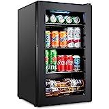 Ivation 101 Can Beverage Refrigerator | Freestanding Ultra Cool Mini Drink Fridge | Beer, Cocktails, Soda, Juice Cooler for H