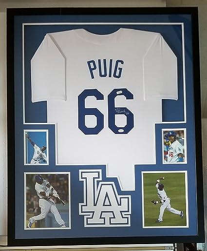 uk availability ea072 c985b Yasiel Puig Autographed Signed Jersey Los Angeles Dodgers ...