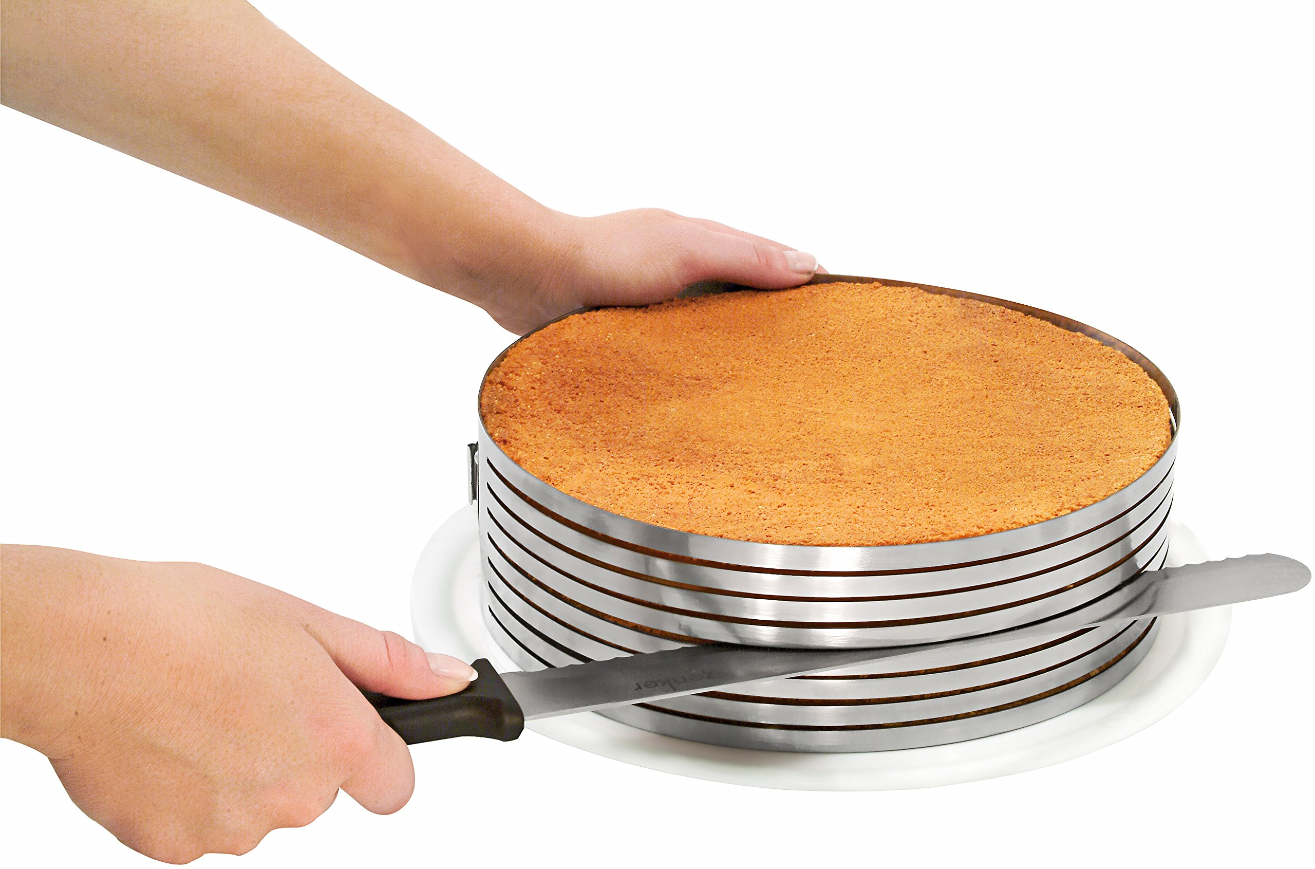 Zenker Stainless Steel Layer Cake Slicing Kit with 12'' Serrated Knife, 3-Piece by Zenker (Image #3)