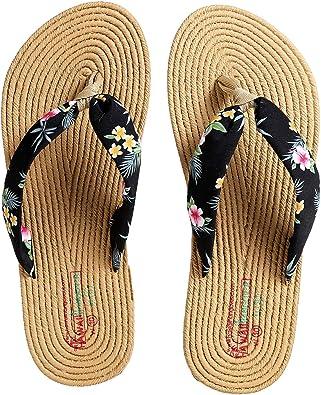 Unisex Summer Beach Slippers Hibiscus Flip-Flop Flat Home Thong Sandal Shoes