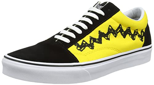 Vans Unisex s Old Skool (Peanuts) Charlie Brown Black Sneakers - 10 UK  2faa2008e24f