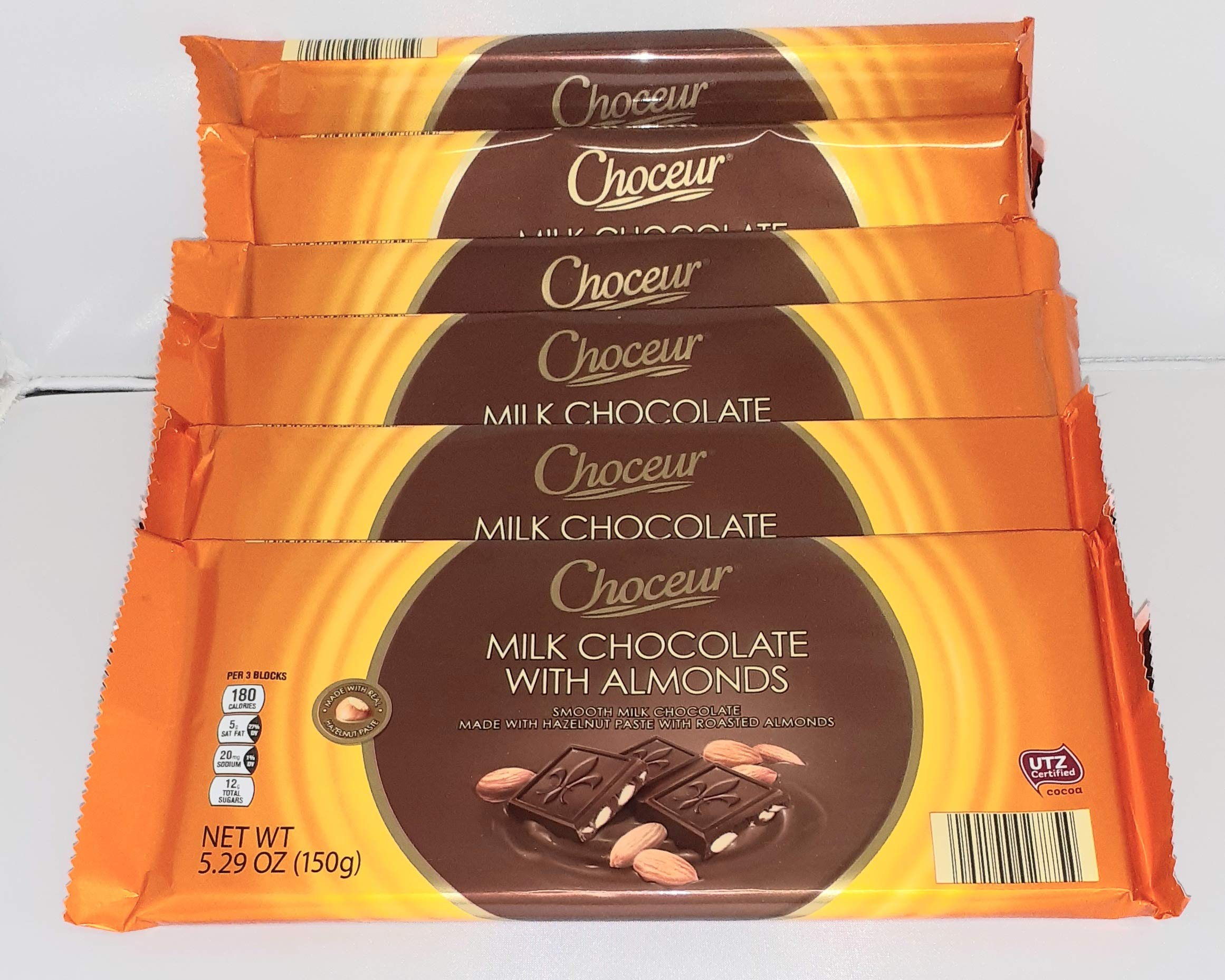 Choceur Milk Chocolate With Almonds 5.29 OZ (Pack of 6)