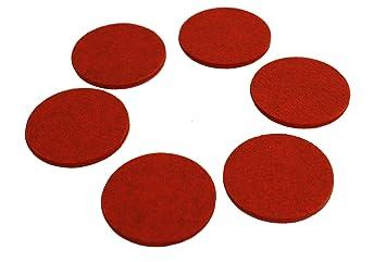4 Filz Untersetzer rund Ø ca 10 cm Tassenuntersetzer Glasuntersetzer grau