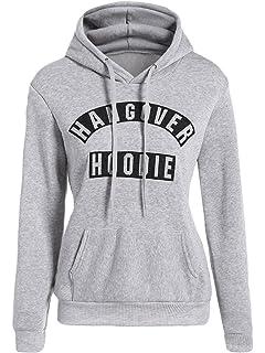 29cf15f9ab9e2 Top Fashion Ladies Plus Size Womens Hangover Hoodie Print Long Sleeve Hoody  UK Size 8-