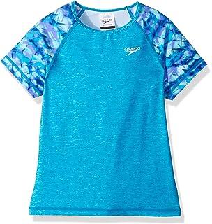 389653298a Amazon.com: Speedo Big Girls' Printed Sleeve Rashguard Shirt: Clothing