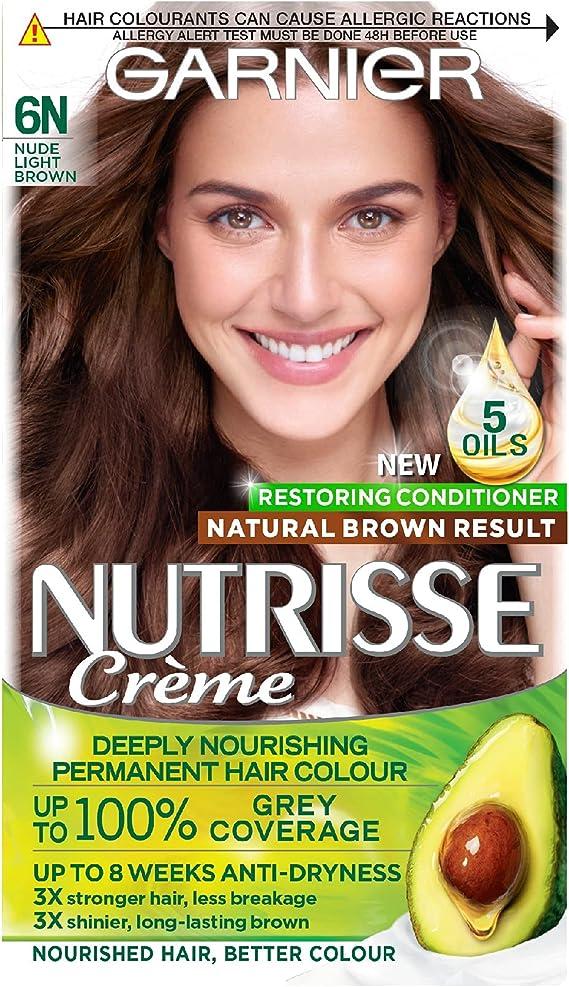 Garnier Nutrisse 6N - Tinte para el cabello permanente, Nude ...