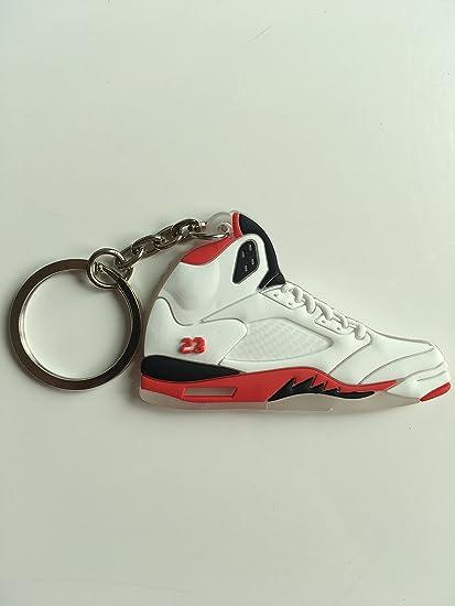 a573635df80 Amazon.com : Jordan Retro 5 Fire Red Sneaker Keychain Shoes Keyring AJ 23 OG  : Sports & Outdoors