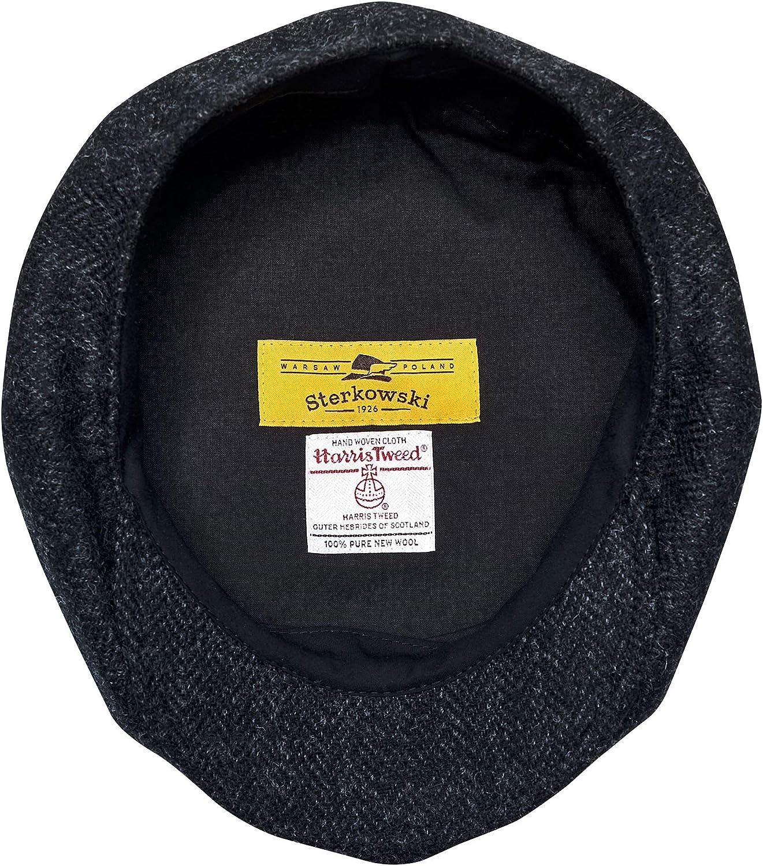 Sterkowski Shelby Newsboy Cap 100/% Wool Harris Tweed Paperboy Winter Mens Flat Cap Gatsby Classic Hat