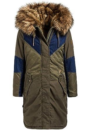 Meryem2 Khujo With Fur Damen Wintermantel Patched Inner vw80ymnOPN