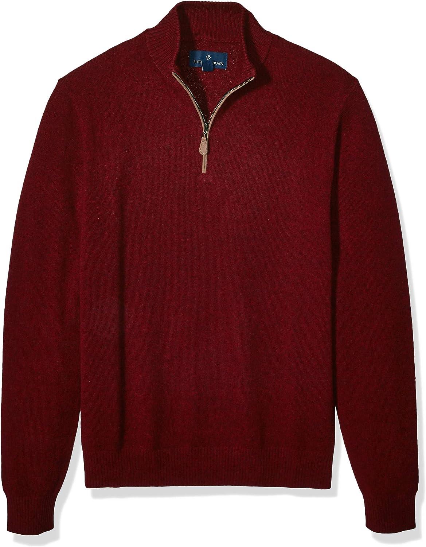 BUTTONED DOWN Mens 100/% Premium Cashmere Quarter-Zip Sweater Brand