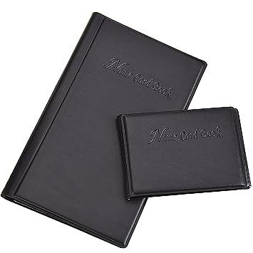 Amazon pangda 2 pieces business card book holder pu leather id pangda 2 pieces business card book holder pu leather id credit card holder journal name card colourmoves