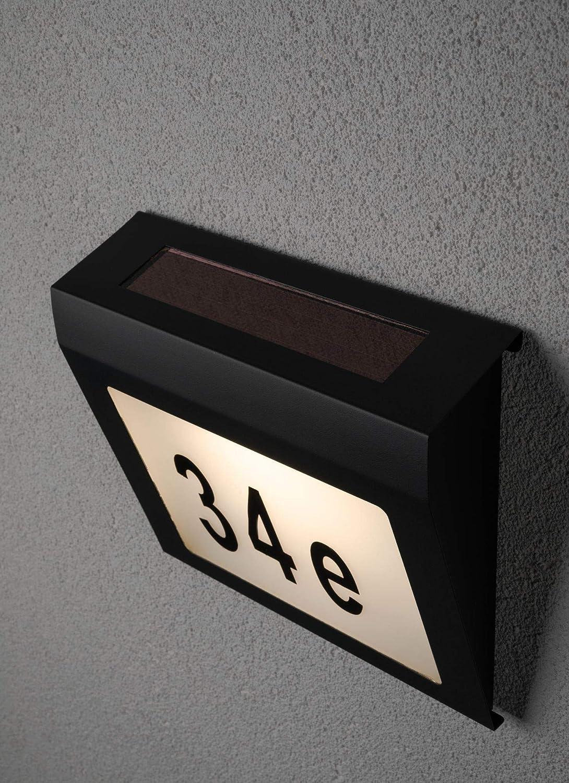 con Led 1 x 0,04 Watt Antracite Plastica 3000 K Bianco Caldo Paulmann 94236 Lampada a Energia Solare Per Numero Civico da Esterni 0,04 W