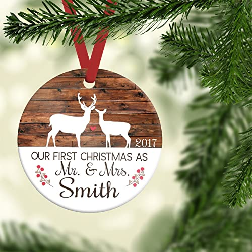 amazon com first christmas as mr and mrs ornament ornament wedding