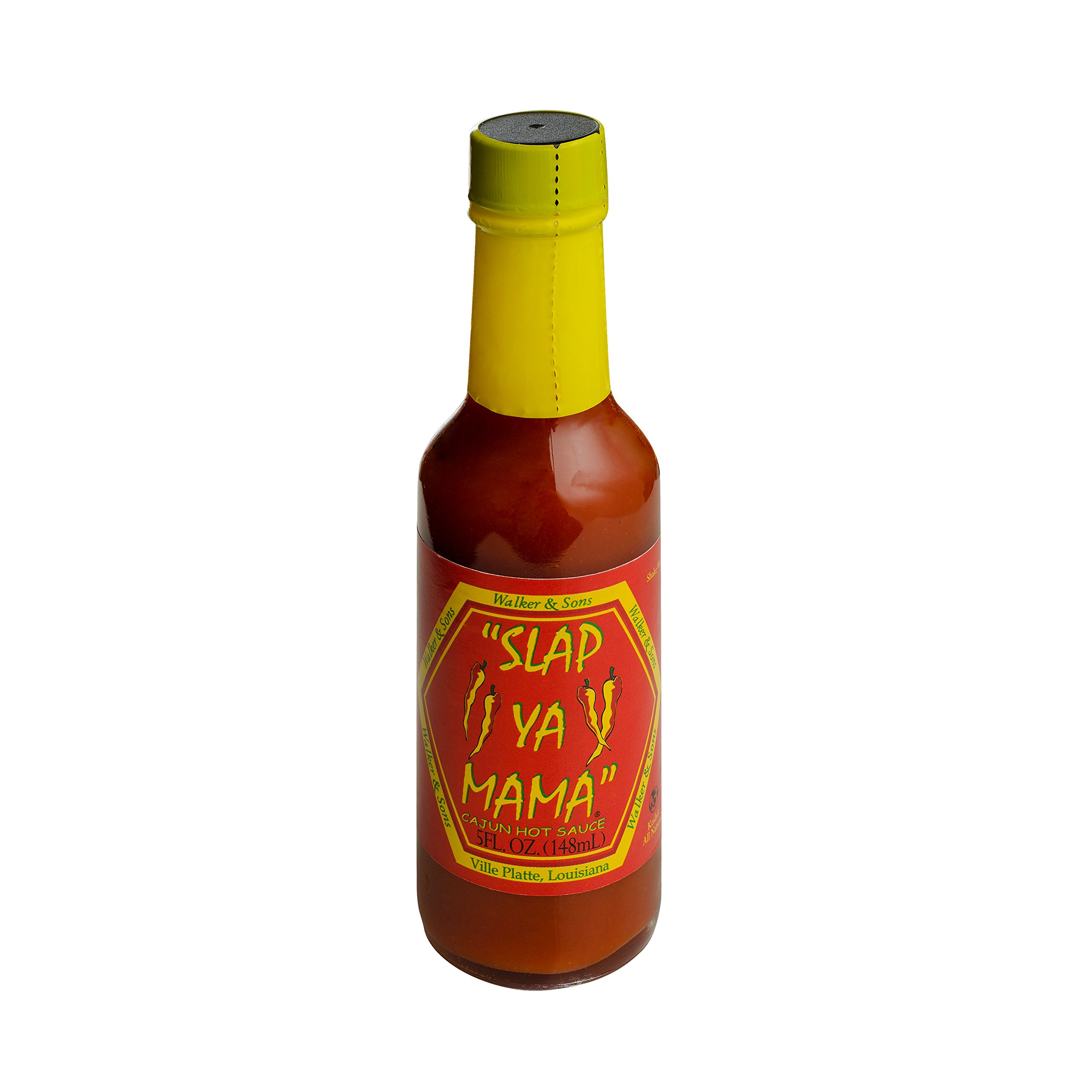 Slap Ya Mama All Natural Louisiana Style Hot Sauce, Cajun Hot Flavor, 5 Ounce Bottle, Pack of 1