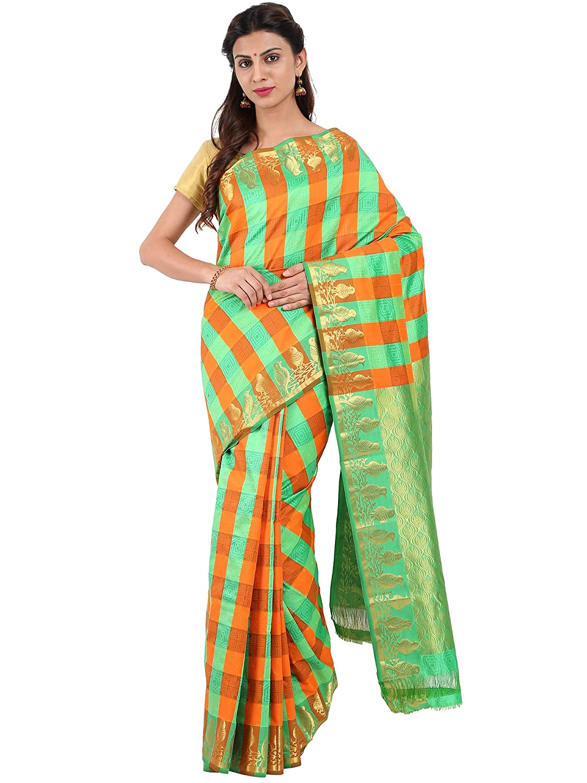 Kanchipuram Silk Saree Collection with Blouse Piece