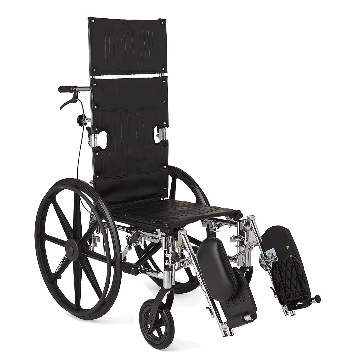 "Amazon Medline Reclining Wheelchair 20"" Wide Seat Desk"
