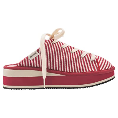 Zenzee Slip-On Mule Style Knit Platform Sneaker Slides for Women, | Mules & Clogs