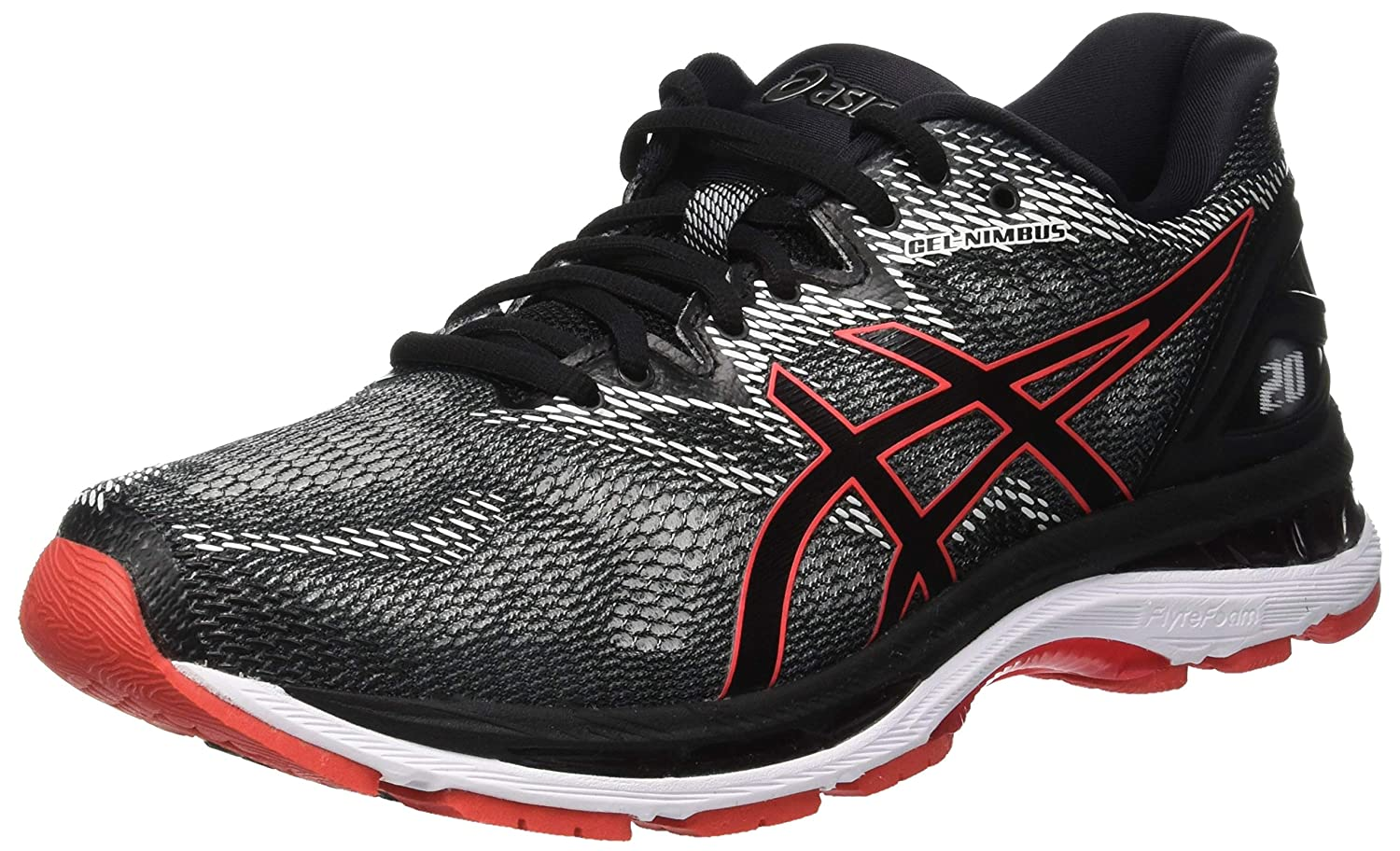 d8f94c698af Amazon.com  Asics Gel-Nimbus 20  T800N-002  Men Running Shoes Black Red  Alert  Health   Personal Care
