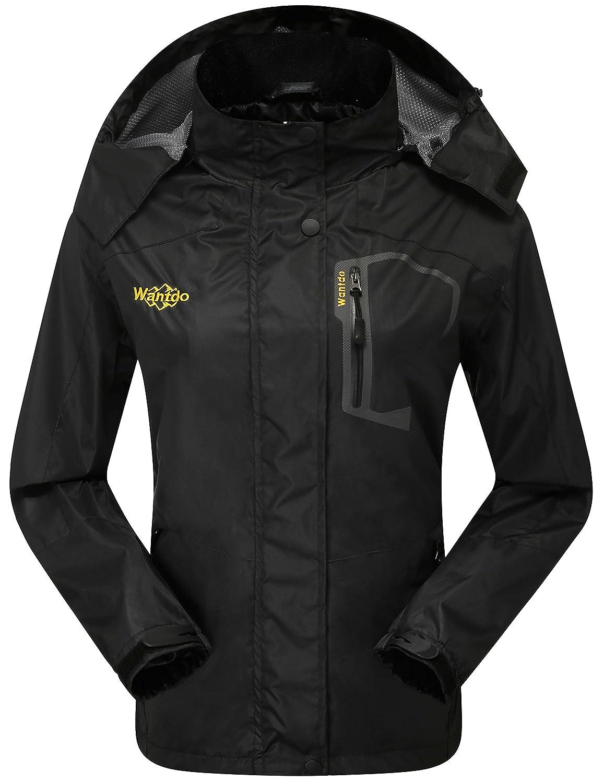 Wantdo Women\'s Hooded Outdoor Lightweight Waterproof Rain Jacket Windproof Raincoat CaHW001womenb