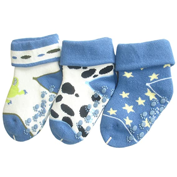 JHosiery Bebés niño calcetines de toalla sin costuras (0-6M/15-16
